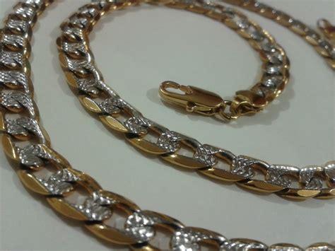 cadenas oro cadena collar oro laminado18k diamantada 60cm x 8mm