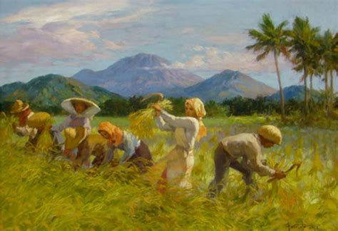 The Of Painting the mountains in fernando amorsolo s paintings