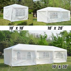 Patio Canopy Gazebo Tent 10 039 20 039 30 039 White Outdoor Wedding Tent Patio Gazebo Canopy With Side Walls Ebay