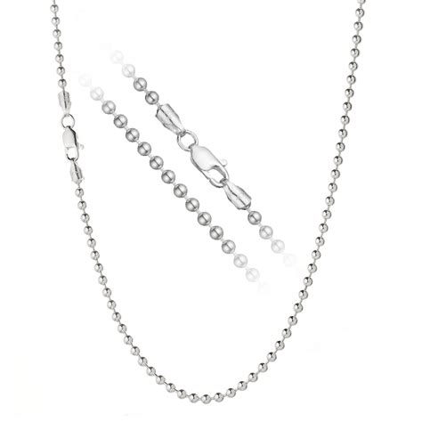 bead chain sizes solid 925 sterling silver 3mm italian bead chain