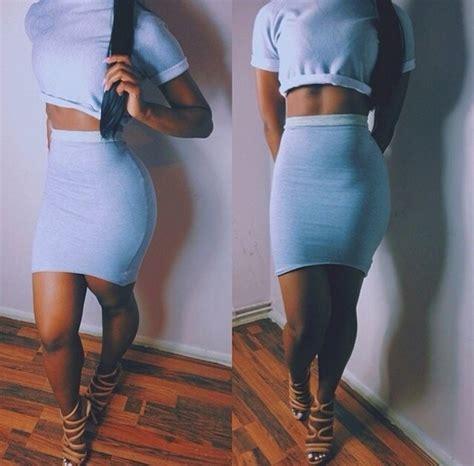 Set Cropped T Shirt Skirt t shirt skirt shoes dress crop tops high