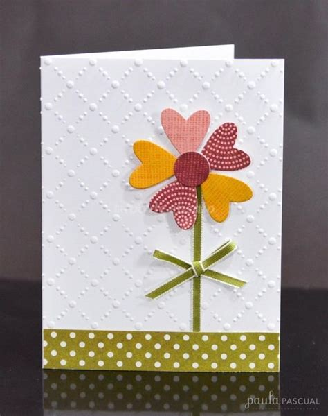 simple cards to make flower cards diy and crafts on