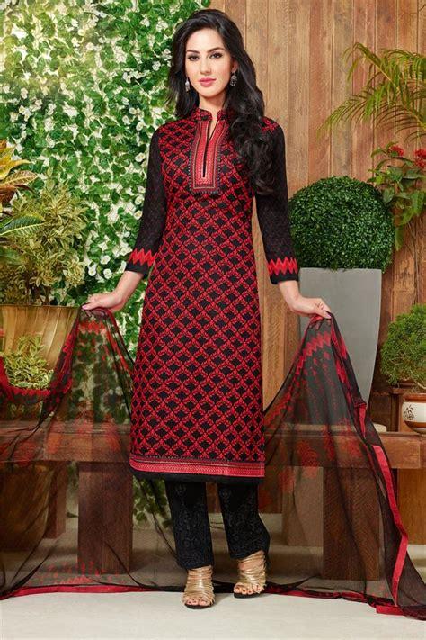 color pattern salwar suit buy punjabi cotton fabric black color daily wear salwar
