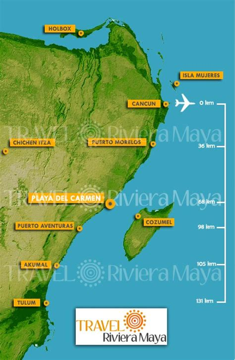 riviera map map of playa my