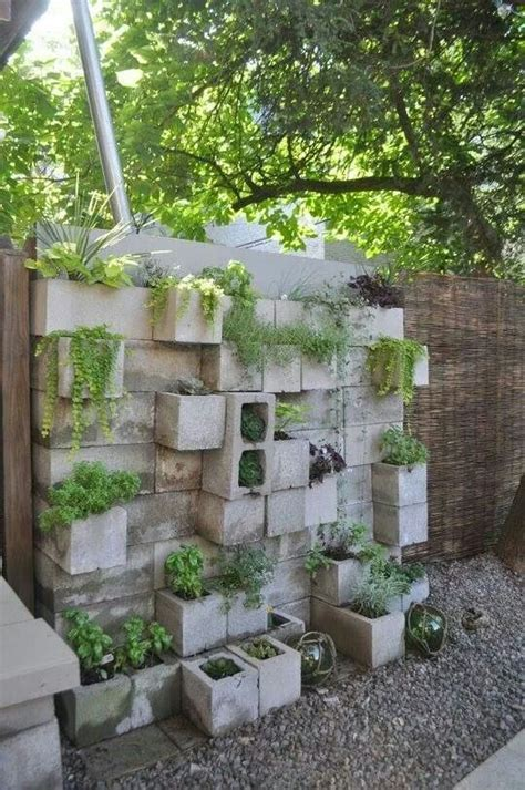 Concrete Blocks For Garden Walls Concrete Wall Planters Studio Design Gallery Best