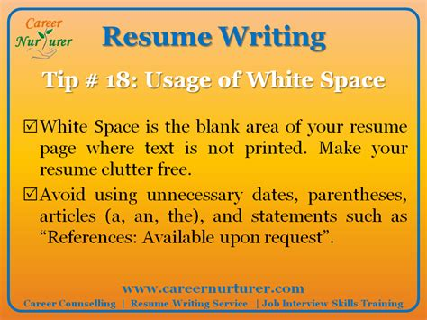 Resume Tips Guidelines Guidelines For Writing A Professional Resume Cv Career