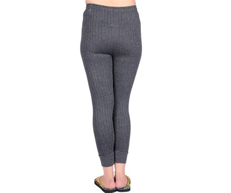 oswal solid grey thermal set  top   women