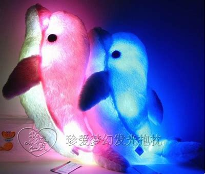 light up pillow 2012 arrive 2pcs dolphin shaped