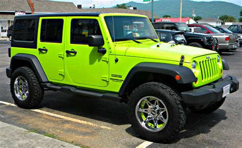 jeep car green lime green jeep wrangler 2017 2018 best cars reviews