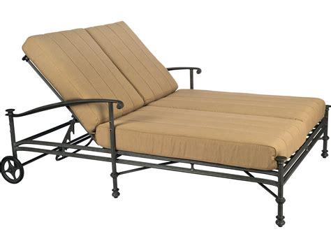 double chaise lounge with canopy woodard nova cast aluminum double chaise with canopy 1v0770