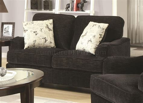 Sofa Yasmin 503781 yasmine sofa in black fabric by coaster w options