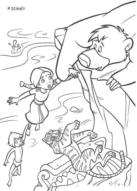 Baloo Saves Shanti Coloring Pages Hellokids Com Jungle Book 2 Coloring Pages