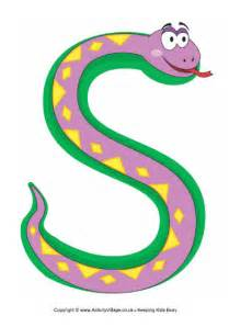 s is for snake poster