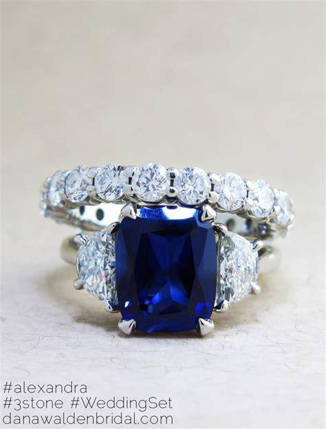 Blue Safir Sapphire 3 4ct alexandra sapphire ring 4ct jewelry