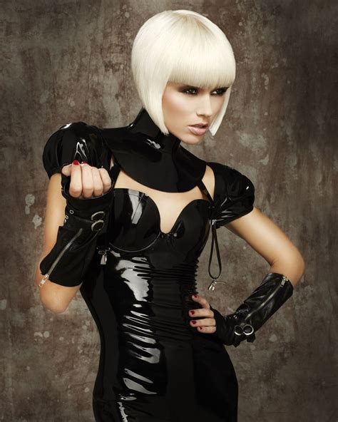 dominatrix bangs hair smartest73 com beautiful ultra light blonde shows off this