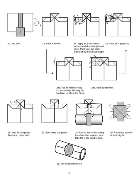 How To Make Paper Scrolls - origami scroll diagram 3 by houndread on deviantart
