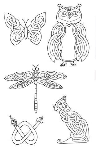 printable version nrl draw 2015 celtic animals designs 2 coloring page free printable