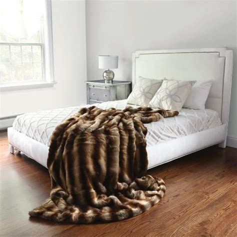faux chinchilla comforter best home fashion faux fur throw lounge blanket