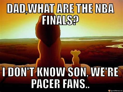 Pacers Meme - indiana pacers nba finals meme