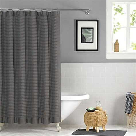 Simple Shower Curtains Real Simple 174 Retreat 72 Inch X 72 Inch Shower Curtain In Grey Bed Bath Beyond