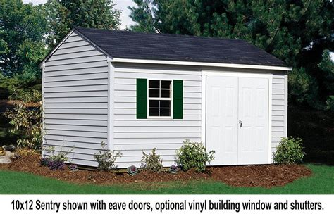 vinyl siding sheds 10x12 maintenance free sentry shed