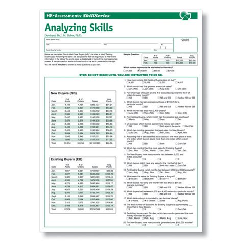 Analytical Abilities Analytical Skills Test For Pre Employment Testing