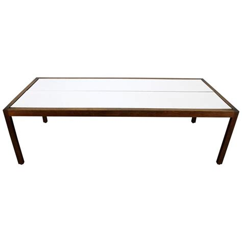 Knoll Walnut And White Laminate Lewis Butler Coffee Table White Laminate Coffee Table