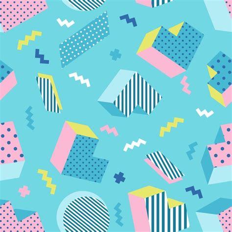 pattern design school seamless colorful old school geometric blue background