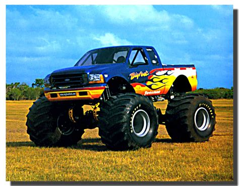 bigfoot 8 monster truck bigfoot monster truck racing car poster monster truck