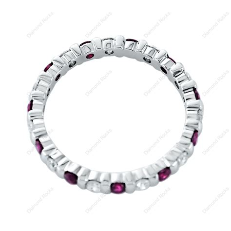 Ruby 4 55ct ruby 0 55ct brilliant eternity ring in