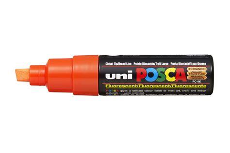 Uni Posca Pc 8k Orange 1 uni posca pc 8k broad chisel tip multi surface paint marker pen fluorescent orange