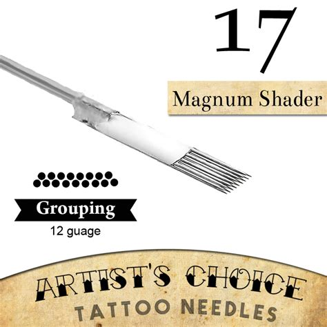 tattoo needle for color packing artists choice tattoo needles 17 curved magnum shader 50 pack