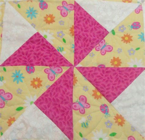 Make Pinwheel Quilt Block by From Homesewn By Carolyn Baby Quilts Quilts