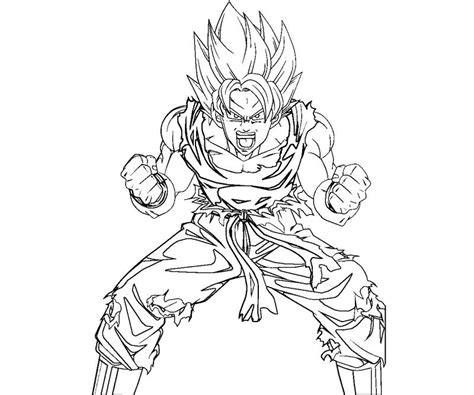 Just Goku Coloring Page Coloring Pages Goku Coloring Pages