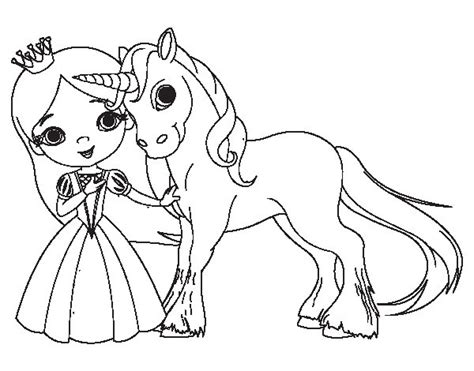 coloring pages unicorn princess unicorn and princess coloring page coloringcrew com