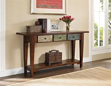 multi colored console table dorel sage rustic console table with multi colored rustic