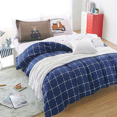 blue plaid bedding popular blue plaid quilt buy cheap blue plaid quilt lots