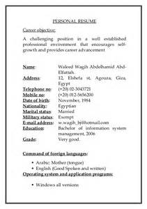 Copy A Resume by Waleed Cv New Copy