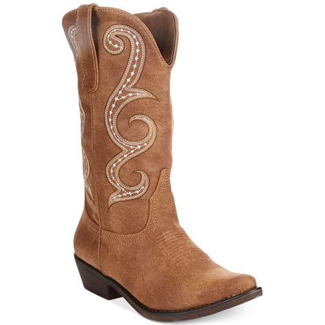boot for american rag dawnn cowboy boots in brown lyst