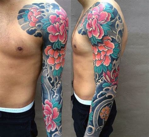 japanese tattoos sleeves for men ideas flower sleeve tattoofanblog