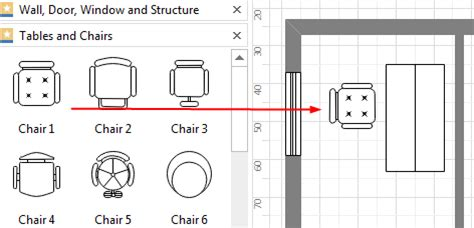add furniture to floor plan create floor plan for ppt
