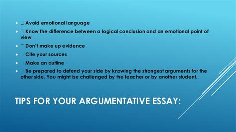 Argumentative Essay Tips by Best Tips To Write Argumentative Essay