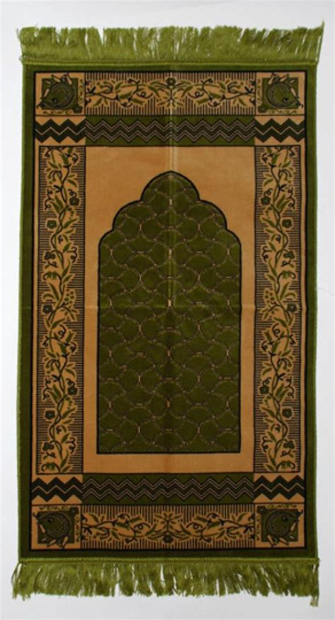 islamic pattern lace green floral lace pattern islamic prayer rug ii802