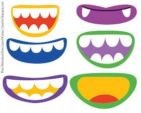 free printable monster eyes and mouth image gallery monster mouths