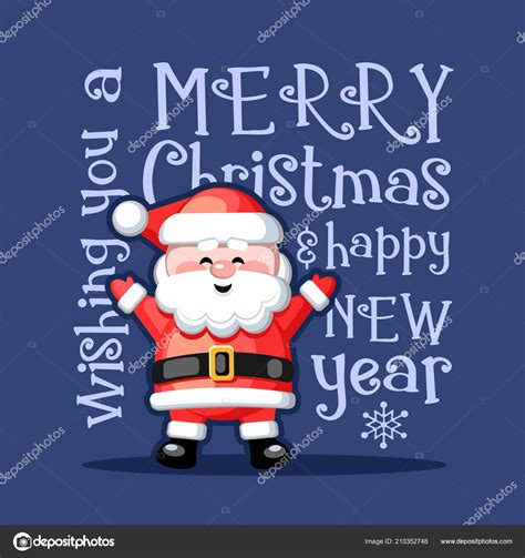 merry christmas happy  year greeting card funny santa claus stock vector  natariis
