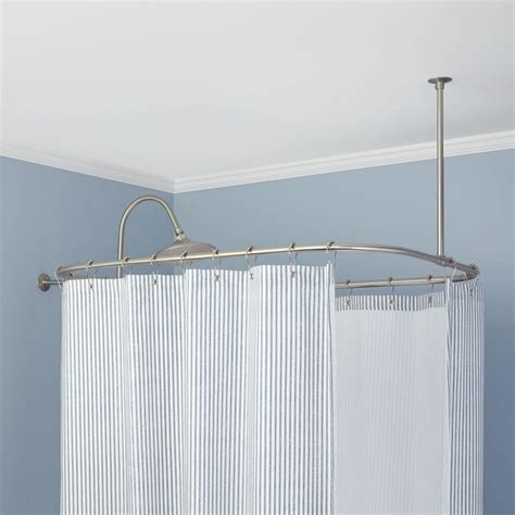 clawfoot bathtub shower curtain rod rectangular solid brass shower curtain rod curtains