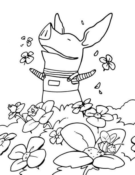 olivia pig coloring page kleurplaten en zo 187 kleurplaat van lente