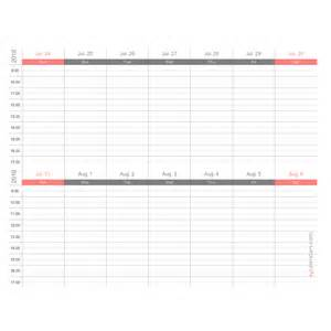 Two Week Calendar Template Free by Weekly Appointment Calendar Templates Ezcalendars