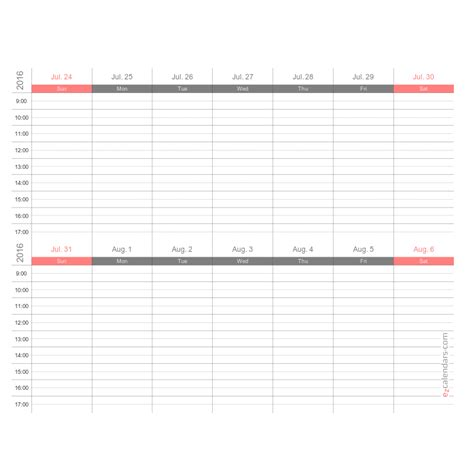 two week calendar template free two weeks appointment schedule template weekly planner