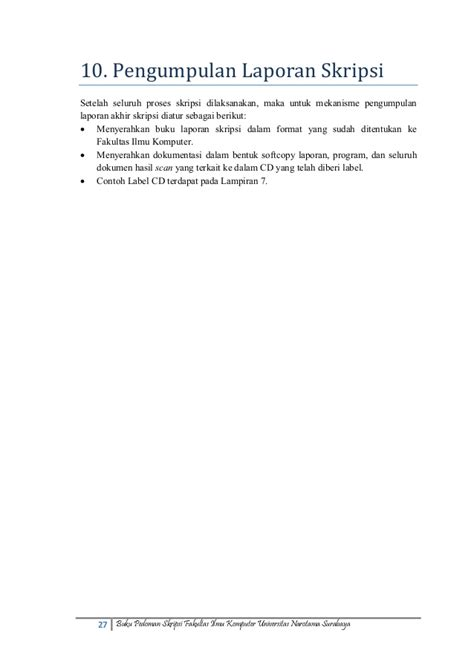 format revisi skripsi mk153027 pedoman skripsi fasilkom unnar okt2013